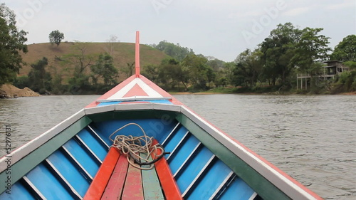 Long Tail Boat On River In Thailand