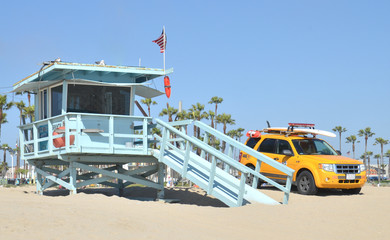 Lifeguard tower at Santa Monica