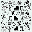 music icons background