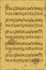 Sheet of music stave notes
