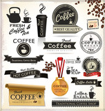 Fototapety Retro Coffee Badges And Labels