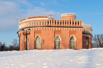 Third Cavalry Building of Tsaritsyno estate in Moscow, Russia