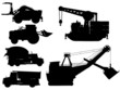 Minning and construction machine set