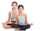 Young Girls In Yoga