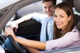 Fototapety Couple in car