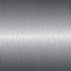 Brushed aluminium metal plate background