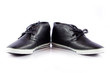 men's shoes on white background.  Male shoes over white
