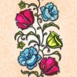 Wallpaper flowers pattern