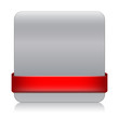 BLANK web button (square red icon symbol template)