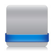 BLANK web button (square blue icon symbol template)