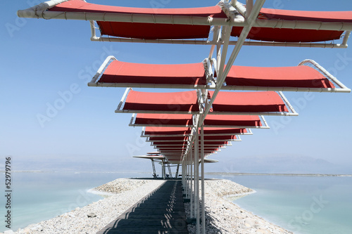 Dead sea. Covered walkway