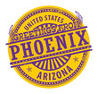 Stamp with text Greetings from Phoenix, Arizona, vector