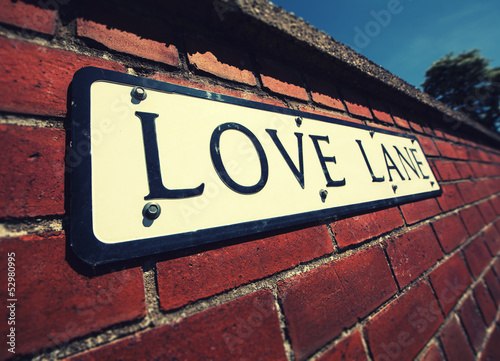 love lane wall sign