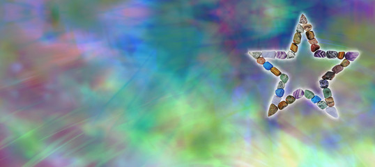 Crystal Healing Star website header