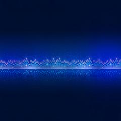 Blue Equalizer Dots