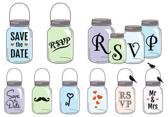 Jar designs, vector set