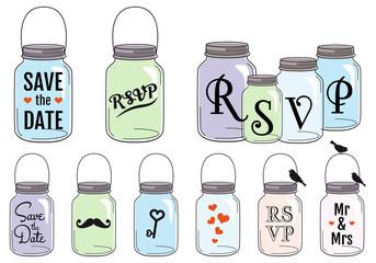 Jar designs, vector set