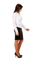 Business woman standing in full length