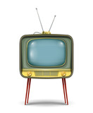 retro tv set vector illustration isolated on white background