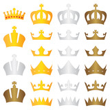 king crown gold silver bronze