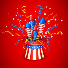 vector illustration of Firecracker from American Flag