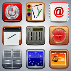 Application icons vector set