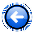 arrow left circle blue glossy icon