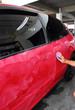 Polished and coating wax car