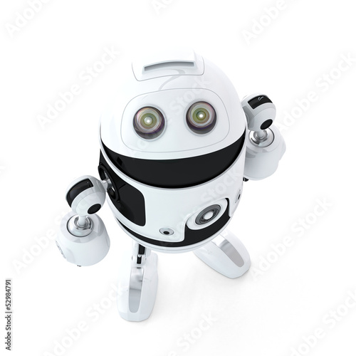 Android robot look up