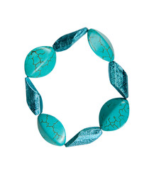 Bracelet made of plastic imitation turquoise