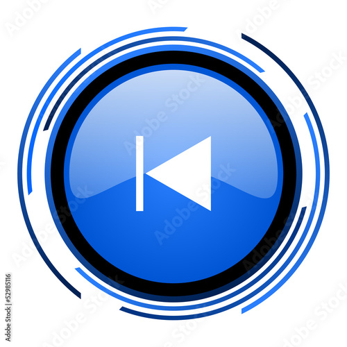 prev circle blue glossy icon