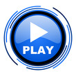 play circle blue glossy icon