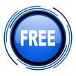 free circle blue glossy icon
