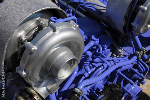 One of turbochargers the powerful engine