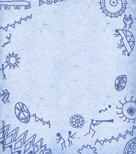 Abstract background with hieroglyphs