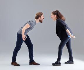 Young couple have a quarrel II