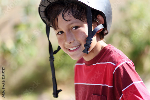 Young active skateboarder