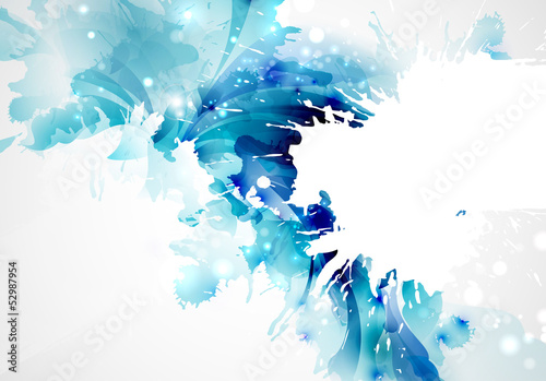 Fotobehang Vormen Abstract artistic Background forming by blots