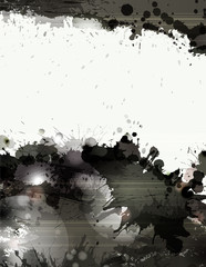grunge background with black splatters and spots
