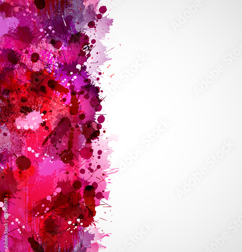 Abstract artistic seamless border forming by blots