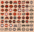 Racing badges - vintage style, big set - 52988337