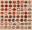 Racing badges - vintage style, big set - 52988337