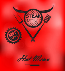 Steak Menu Poster