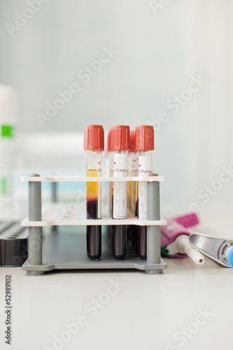 capsules for the blood analysis