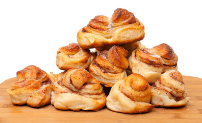 Fresh appetizing sweet rolls