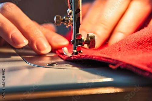 Leinwandbild Motiv Sewing Process
