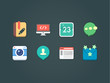 flat vector icons for web and mobile