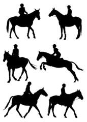 Jockey silhouettes