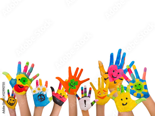 canvas print picture smiley hands