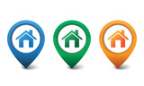 3D home icon design vector illustration